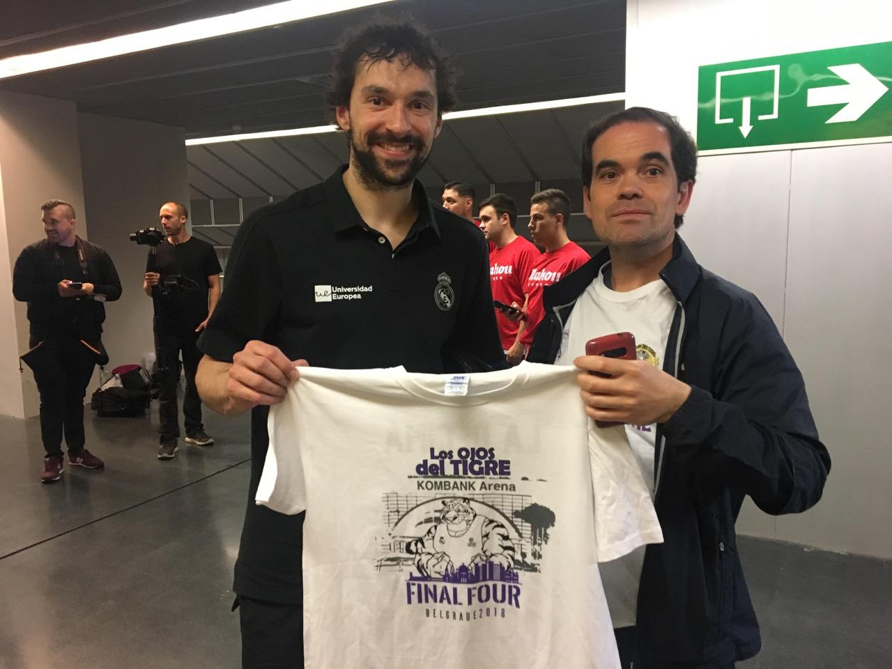 Sergio Llull con la camiseta